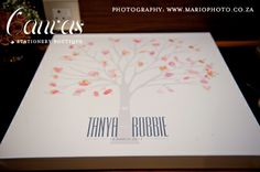 Tanya & Robbie's 'leaf your print' guest book - Canvas Stationery Boutique Photography by Mario Sales Letterpress Invitations, Stationery, Boutique, Special Day, Mario, Canvas, Book, Projects, Photography