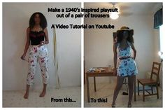 tutorial How to Make a Playsuit / Romper #diyclothes