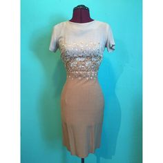 Vintage 1960s Tan and Beige Embroidered by StardustVintageRetro