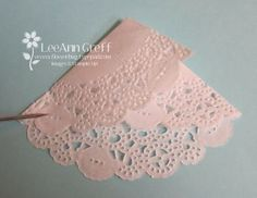 Doily Wedding Dress Tutorial from Flowerbug's Inkspot