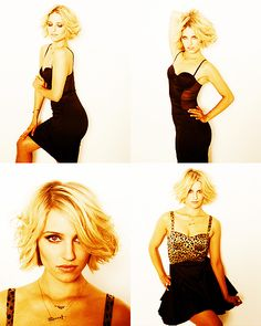 I think Dianna Agron is beautiful and I love her short hair. This may be my new short hair inspiration