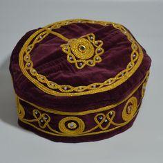 MEDIEVAL FOLKLORIC FEZ VELVET HAT HANDMADE CAP EXOTIC OTTOMAN COSTUME Tarboosh  #Handmade #TopHat