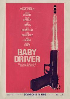 Teaser-Plakat zum Actionfilm BABY DRIVER
