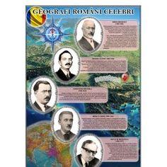 Portrete Geografi romani celebri 1 Decembrie, Romania, Baseball Cards, Cabinet, Geography, Clothes Stand, Closet, Cupboard