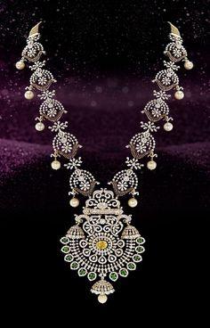 Bridal Jewellery, Bridal Necklace, Wedding Jewelry, Pearl Jewelry, Gold Jewelry, Jewelery, Diamond Necklaces, Diamond Jewellery, Designer Jewellery