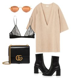 """"" by marinemdz ❤ liked on Polyvore featuring Gucci, Yves Saint Laurent, NYFW and fashionset"