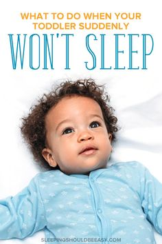 Frustrated because your toddler suddenly won't sleep at night, even when he had once been a great sleeper? Whether he won't go to sleep until late, refuses to stay in bed, or is screaming and crying at bedtime, discover the solutions to your child's sleep problems and regression with these effective tips. A must-read for every exhausted toddler mom! Child Sleep, Kids Sleep, Go To Sleep, Toddler Biting, 15 Month Sleep Regression, Toddler Sleep Problems, Children Will Listen, Toddler Bedtime