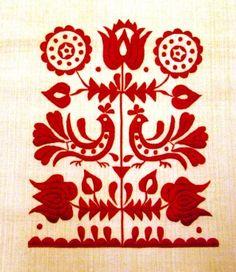 slovenské ornamenty - Hľadať Googlom Polish Embroidery, Hungarian Embroidery, Embroidery Motifs, Embroidery Monogram, Folk Art Flowers, Flower Art, Scandinavian Embroidery, Principles Of Art, Arte Popular