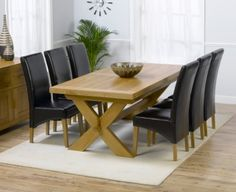 Bellano Oak Dining Set - 200cm-240cm Extending with 6 Roma Chairs