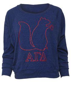 alpha gam squirrel sweatshirt.