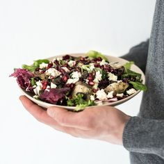 Mediterranean Artichoke + Pomegranate + Feta Salad