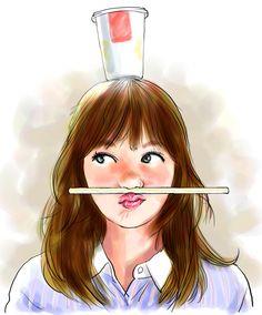 モデル マーシュ彩さん #似顔絵 #イラスト #モデル #マーシュ彩 #セブンティーン #caricature #illustration #model #ayamarsh #drawing