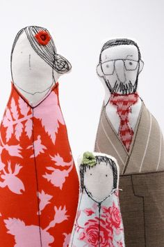 dolls from child's drawing - cute!