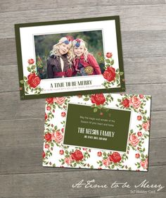 A Time to Be Merry 5x7 - Holiday Card
