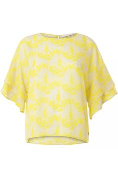 Cupro top w. big sleeve 182-1262COS | Product detail cupro-top-w-big-sleeve-travellers-palmtree-pineapple 1309425 | Moose in the City