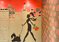 City Scape Mural @ Dog Groomers in New West