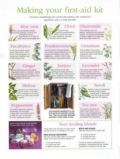 Essential Oils: First Aid Kit