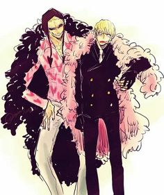 Switch clothes - Donquixote Doflamingo and Rocinante (Corazon) (Corasan, Cora-san) One Piece
