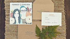Invitations by Hello, Gem!    Photo by Forrest Kline