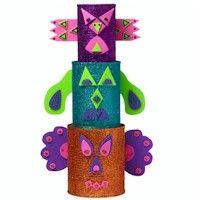 Totem Pole : September 25th is Native American Day. Here is a chance to recycle those tin cans into this fun totem pole and teach young people about our Native American heritage.