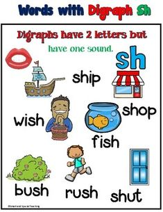 Digraph sh Worksheets ( Multi-sensory Spelling) by Smart and Special Teaching