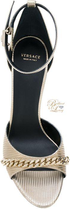 ♦let it glitz ~ sandals in GOLD Brilliant Luxury ♦ Versace chain detail sandal Women's Shoes, Zapatos Shoes, Cute Shoes, Me Too Shoes, Shoe Boots, Pumps, Gold Sandals, Kinds Of Shoes, Fashion Shoes