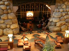 The lobby at the Grand Californian Hotel. If I ever get married, I want to be proposed to in front of this fireplace.