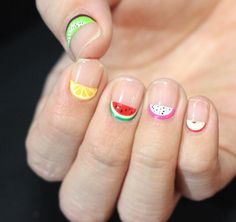 20 Negative Space Nail Looks You Need to Try - Fruits