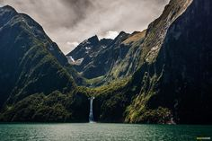 I need to sail a boat intop here! Indomitable-milford-sound-waterfall #neverendinglist