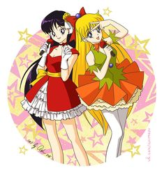 Rei and Minako Idols by Ash