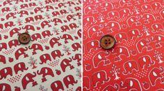 Elephant cotton fabric