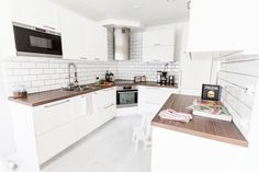 Ikea-keittiö Decor, White Kitchen, House, Home, Kitchen Cabinets, Cabinet, Kitchen