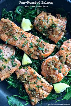 Pan-Roasted Salmon w