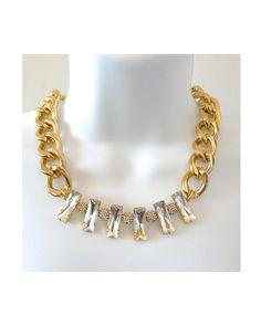 The Gold Pave Bib by JewelMint.com, $42.00