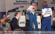 Ayrton with Frank Williams