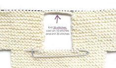 Garter Stitch Baby Sweater - [ EASY Pattern & Tutorial ]