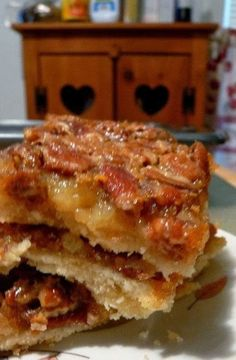Pecan Pie Bars - There's no more southern of a dessert than Pecan Pie, but I wanted to make something I could pack easily in lunches. The solution? Pecan Pie Bars. They were quick and easy and almost as good as the real thing.