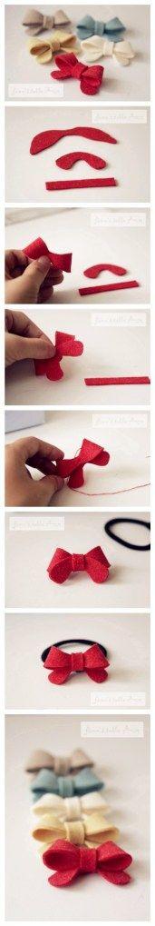 felt bows w/ template