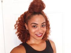 Top Knot-ch Braid Out using Carol's Daughter Hair Milk Collection!