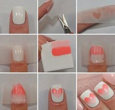 nail-art-con cuori #step by step
