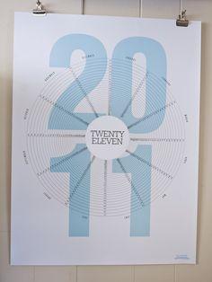 twenty eleven 2011 calendar by the must stash Lost Poster, Kalender Design, Cool Calendars, Creative Calendar, Calendar Layout, Fabric Stamping, Information Graphics, Graphic Design Inspiration, Creative Inspiration