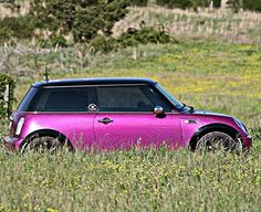 I don't post enough pics of my original baby.  #pink #pinkminicooper #pinkmini #miniusa #mini #cooper #minicooper #car #dreamcar #dreamcars #girlcar #chickcar #minigirl #minigirlsclub #sparkly #glitter #magenta #flowers #pretty #sexy #sexycar #import #wilmingtonnc
