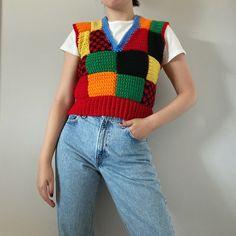 Crochet Fashion, Diy Fashion, Fashion Outfits, Cute Crochet, Crochet Top, Diy Crochet Sweater, Urban Outfitters Sweaters, Crochet Clothes, Crochet Outfits