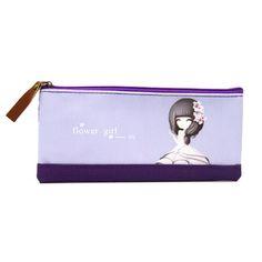 ราคาถูก พร้อมส่ง  Vococal Girls Carton Pattern Pencil Pen Stationery Bag Case Pouch (Rose) (Intl) คุณภาพดี ราคาไม่แพง