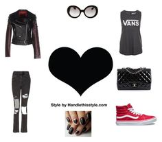 """Its all about the Love ❤️"" by handlethisstyle ❤ liked on Polyvore featuring Topshop, The Ragged Priest, Vans, Prada, Chanel and Brika"