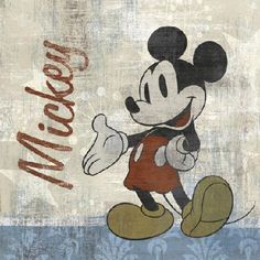 Vintage Mickey Counted Cross Stitch Pattern PDF ~EMAIL ONLY~