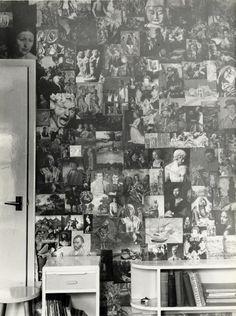 Interior of Joe Orton and Kenneth Halliwells Islington Bedsit