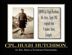 HUGH HUTCHISON, 9 ANDREW STREET, LOCHGELLY, SCOTLAND.
