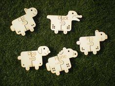 Puzzles - 5 Wooden Farm Animals Bilingual.