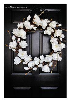 White Magnolia Wreath. Magnolia Wreath. Year Round by WreathDreams